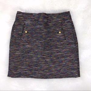 Loft-Multicolor Short Skirt-fully lined-EUC-Sz 0